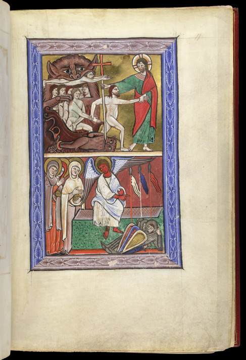 Descent into Hell and the Holy Women at the Tomb, in a Psalter